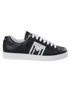 Prada Linea Rossa Logo Print Sneakers - Black/White