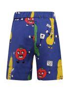 "Mini Rodini Blue ""veggie"" Shorts - Blue"