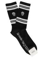 Alexander McQueen Sport Skull Socks - BLACK WHITE
