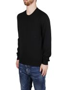 Alexander McQueen Black Wool Jumper - Nero e Bianco
