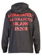 Dsquared2 Logo Print Nylon Jacket - Black