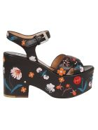 Laurence Dacade Floral Sandals - Black