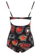 Dolce & Gabbana Sacred Heart Swimsuit - CUORI E ROSE F NERO (Black)