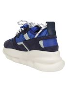 Versace Chain Reaction Sneakers - Navy/bluette/lime stne