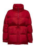 Prada Linea Rossa Turtle Neck Padded Jacket - Rosso