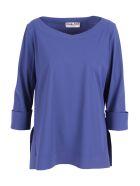 La Petit Robe Di Chiara Boni La Petit Robe By Chiara Boni 'angeline' Polyamide Blouse - Blueberry