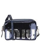 Miu Miu Camera Bag Pailettes Logo - BLUE