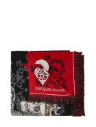 Alexander McQueen Love Shawl - Black/red