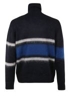 Golden Goose High Neck Yoshiro Sweater - Navy/white