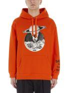 Valentino 'soul Planet' Hoodie - Orange