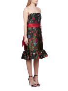 Marchesa Notte Dress - Nero multicolor