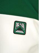 Prada Prada Two-tone Technical Jersey Cardigan - GREEN