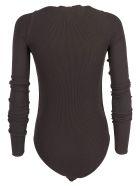 Bottega Veneta Ribbed Bodysuit - Chocolate