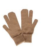 Maison Margiela Brown Wool-cashmere Blend Tabi Gloves - Camel