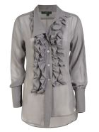 Jejia Ruffled Detail Blouse - Grey