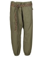 R13 Olive Green Cotton Trousers - Olive