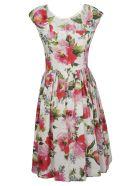 Dolce & Gabbana Floral Print Pleated Skirt Dress - Peonie