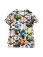 Molo Multicolor Print T-shirt - Bianco