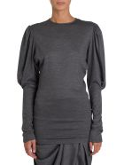 Isabel Marant Blouse With Puffed Sleeve - Grigio