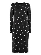 Dolce & Gabbana Polka Dot Print Sheath Dress - blue
