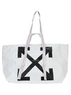 Off-White Totes Off White Commercial Arrow Logo Tote