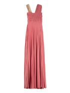 Elisabetta Franchi Celyn B. Lurex Jersey Long Dress - Pink
