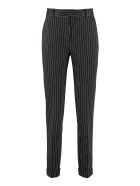 Max Mara Studio Luca Cropped Pinstripe Trousers - blue