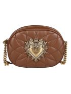 Dolce & Gabbana Brown Leather Devotion Camera Bag - CASTAGNO