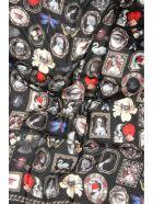 Alexander McQueen Cameo And Curiosities Maxi Scarf - BLACK BEIGE (Black)