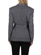 Agnona Grey Cashmere-wool Blend Blazer - Grey