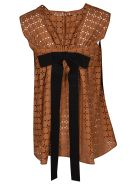 Rochas Embroidered Blouse - Rust