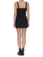 HERON PRESTON Stretch Zip Denim Dress - Black