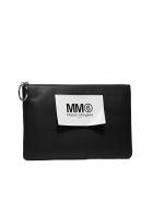 MM6 Maison Margiela Logo Patch Clutch - Black