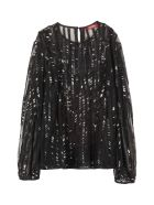 Max Mara Studio Girl Embroidered Blouse - black