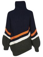 Sacai Asymmetric Hem Sweater - Multicolor
