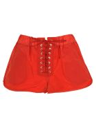 Ben Taverniti Unravel Project Unravel Unravel Project Lace-up Shorts - RED