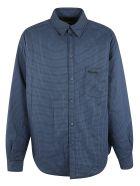 Balenciaga Oversize Checked Shirt - Blue/Grey