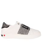 Love Moschino Embellished Sneakers - Bianco