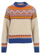Golden Goose Momo Round Neck Sweater - WHITE MULTI