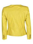 Bully Round Neck Buttoned Jacket - Yellow