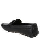Prada Plaque Logo Front Loafers - Black