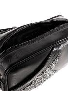 Golden Goose Glitter Star Shoulder Bag In Black - Black