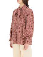 Lanvin Blouse With Jl Monogram Print - PINK GARNET (Pink)