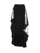 Paula Knorr Sequin Embellished Skirt - Silver