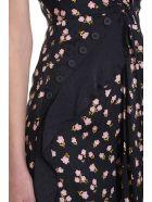 self-portrait Floral Print Maxi Dress - black
