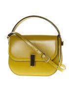 Valextra Mini Iside Brushed Leather Crossbody Bag - Mustard