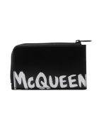 Alexander McQueen Large Zip Coin Card Case - Black/white