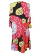 Sofie d'Hoore Tropical Print Off-the-shoulder Long Dress - Red