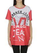 Versace Jeans Logo Print T-shirt - Red white