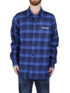 Marcelo Burlon Blue Cotton Shirt - Bluered